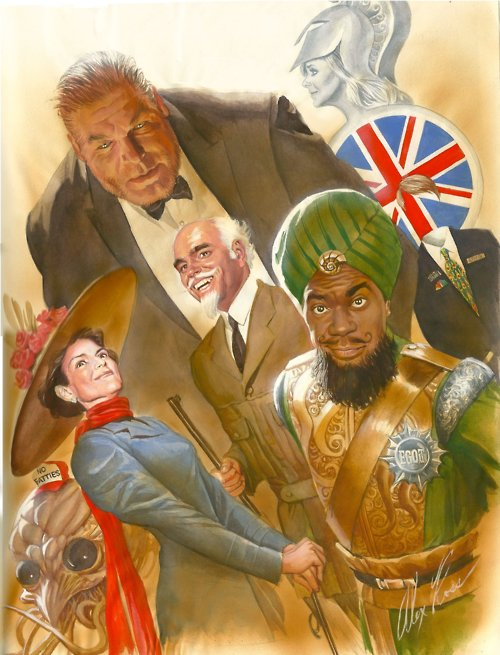 30 Rock/League of Extraordinary Gentlemen mash-up by Alex Ross
