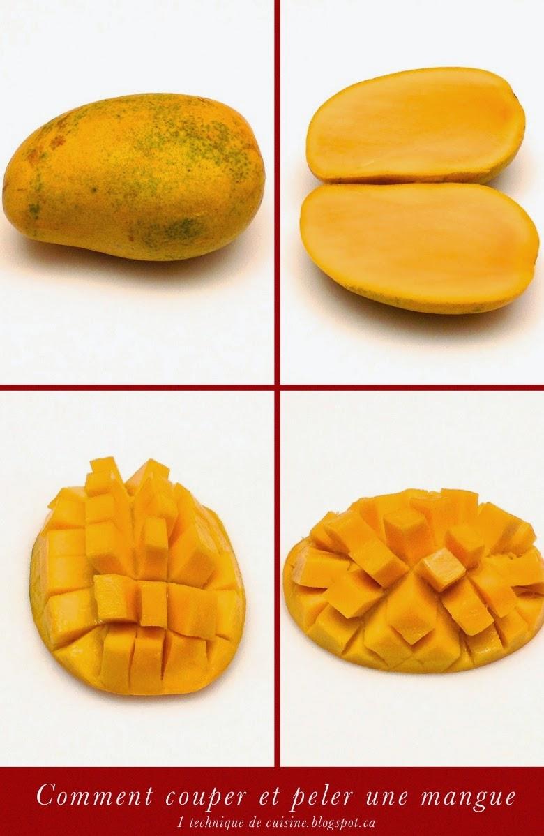 1 technique de cuisine comment couper et peler une mangue - Comment couper une courgette ...