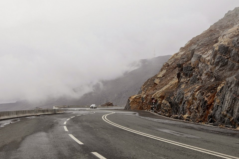 Northern Emirates mountain road