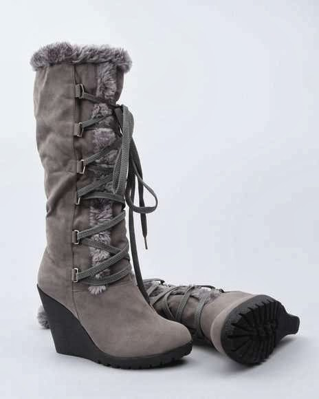 Fashion Lab Women Yodel Winter Boot W/faux Fur