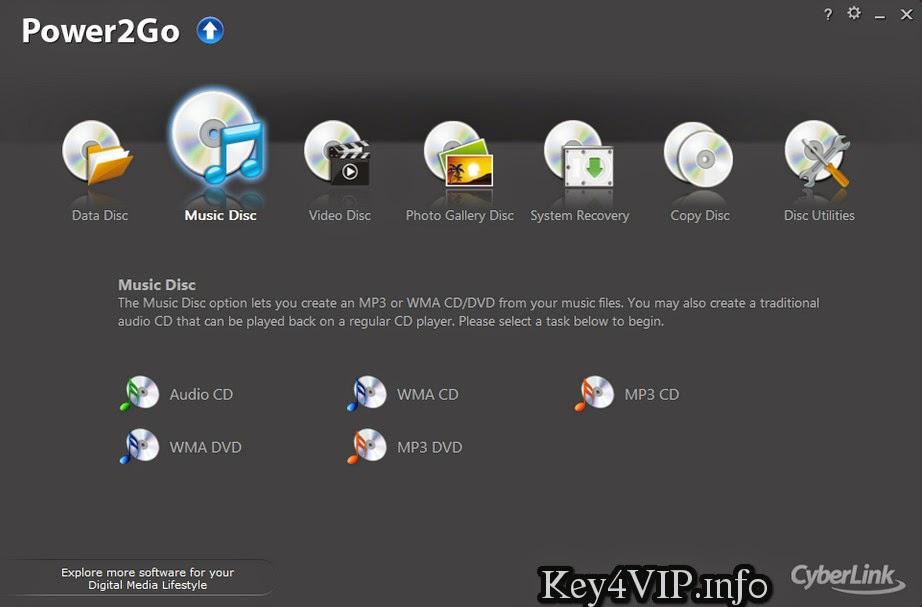 CyberLink Power2Go Platinum 10.0.1518 Proper Full Key,Phần mềm ghi đĩa DVD chuyên nghiệp