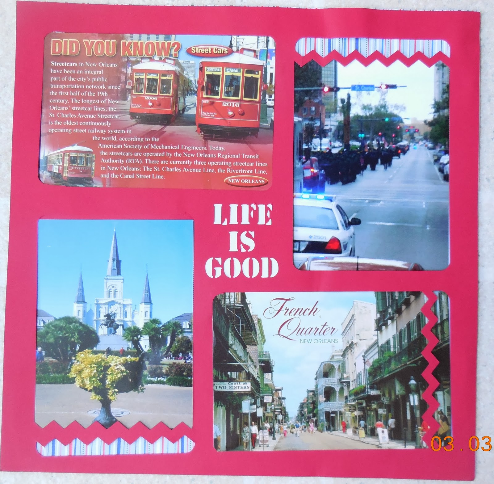 Scrapbook ideas new orleans - I Don T Do Fancy Or Elaborate Pages