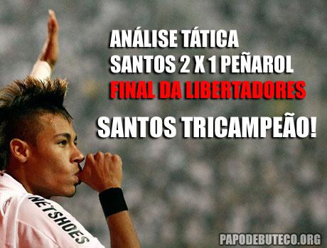 Analise tática entre Santos 2x1 Peñarol na final da Libertadores