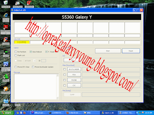 SAMSUNG GALAXY YOUNG FIRMWARE (bahan bahan flashing via odin