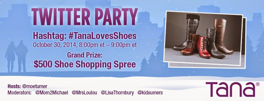 #TanaLovesShoes Twitter Party