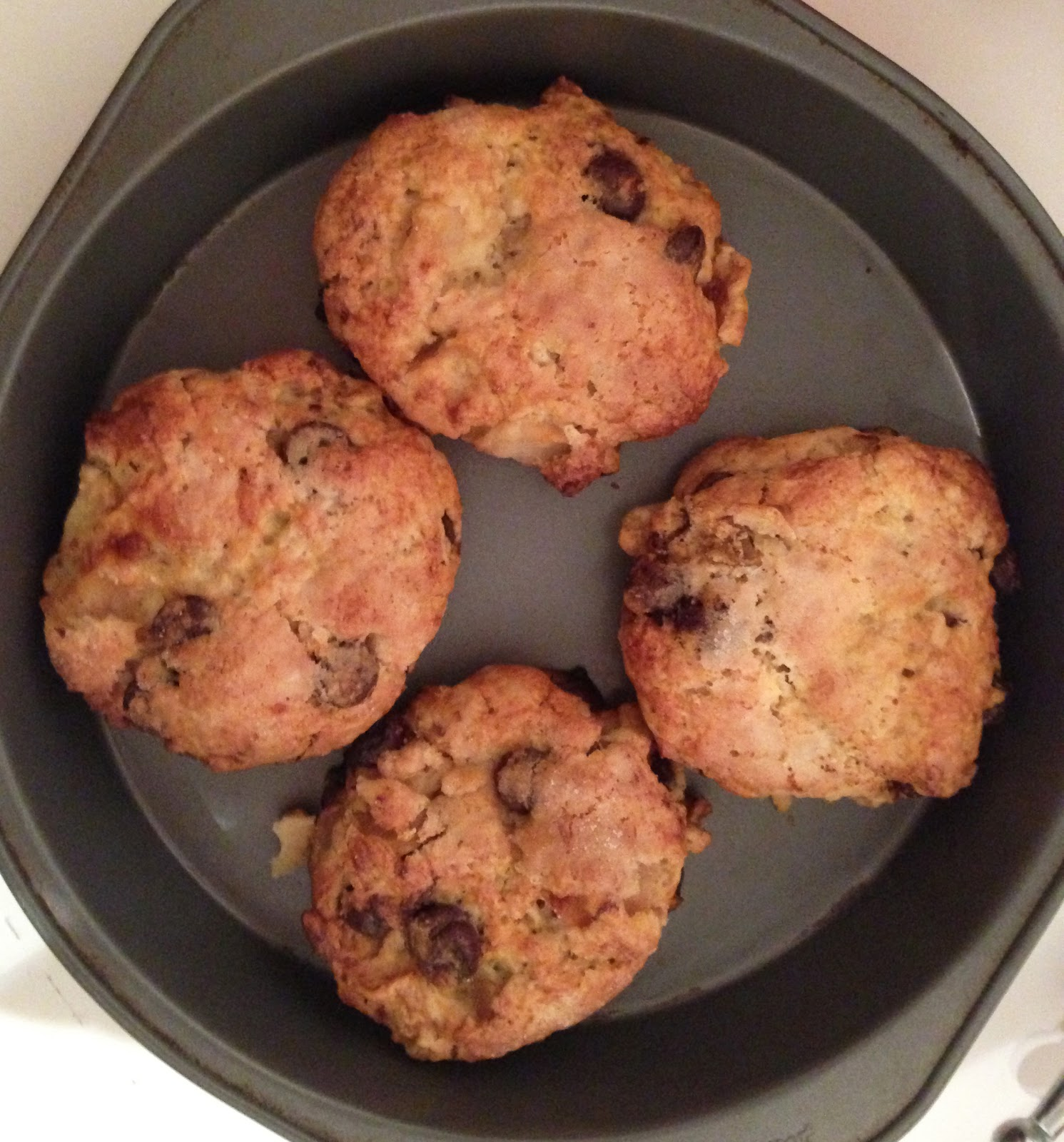 Roasted Pear and Chocolate Chunk Scones