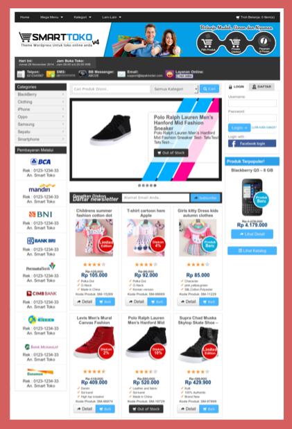 Download tema e-commerce wordpress
