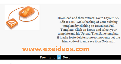 Simple Image + Text  Slider for Blogger/Blogspot