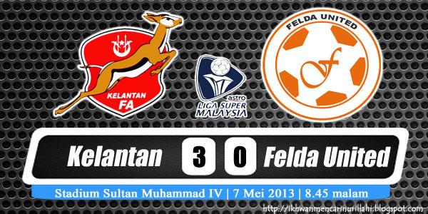 Keputusan Kelantan vs Felda United 7 Mei 2013 - Liga Super 2013
