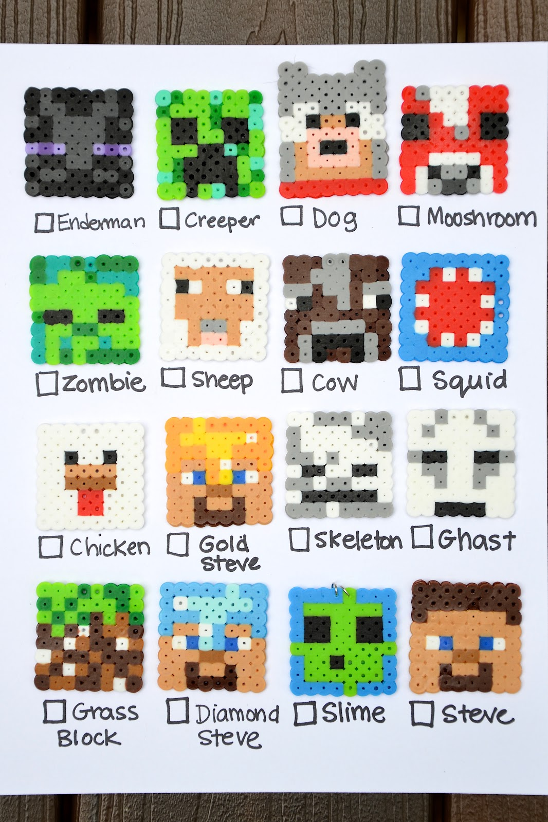 Ikat Bag Minecraft Party Coloring Bookmarks Crafting