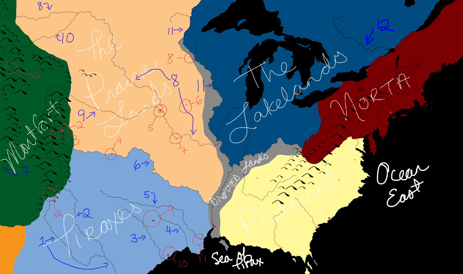Writing Things New Map Of The Red Queen World