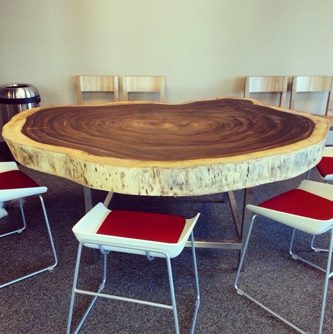 Parota dining table by ben wheatley tropical exotic hardwoods - Amazing Parota Dining Table By Customer Jay Woody