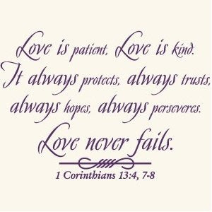 Love Quotes For A Wedding Gift : Love is patient, love is kind. It always protects, always trusts ...