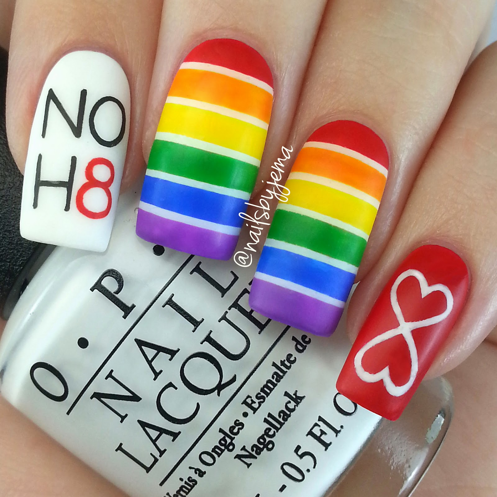 Pride Nail Designs: N A I L S B Y J E M A: My Second Gay Pride Nails & Video