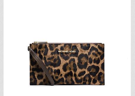 Michael Kors Bedford Leopard Hair Calf Clutch