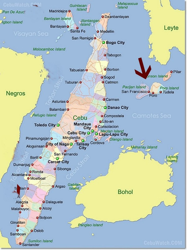 Camotes Islands Philippines  City new picture : courtesy of philippinemaps.ph