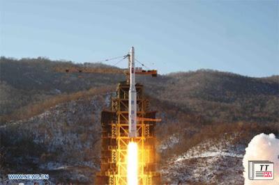 Tên lửa tầm xa của Triều Tiên được phóng hôm 12/12. Ảnh: KCNA/Xinhua