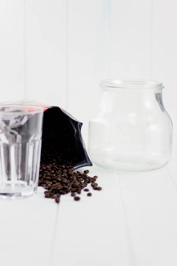 Ein selbstgemachter Blumentopf mit Kaffeeduft!