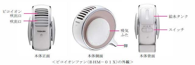 TOSHIBA Pico負離子保濕器 BHM-01X