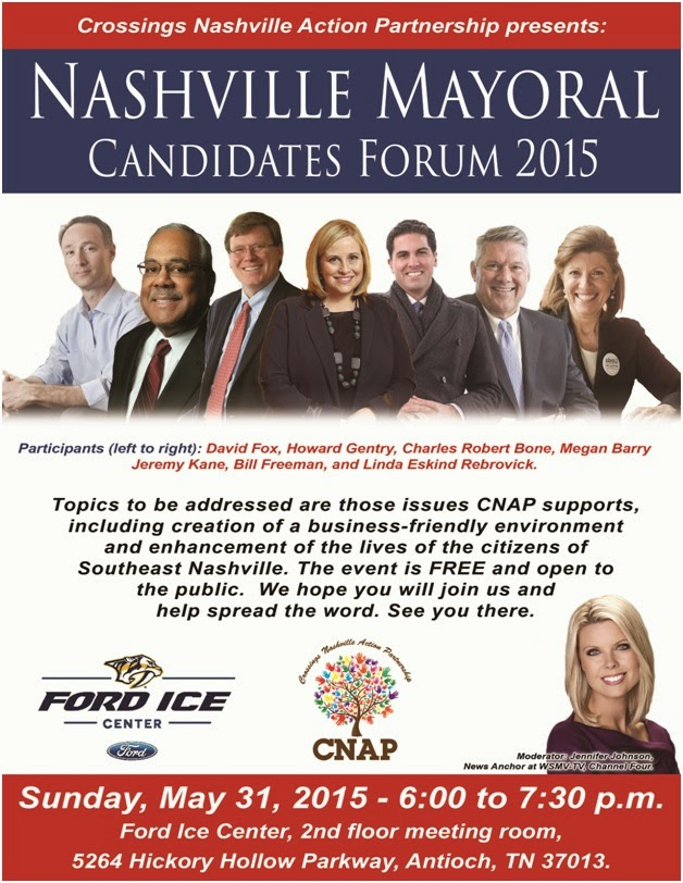 mayoral forum set at ford ice center for the southeast nashville area of davidson county