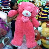 foto boneka teddy bear besar pink