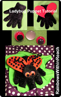 photo of: Ladybug puppet tutorial, DIY ladybug puppet, ladybug craft for spring