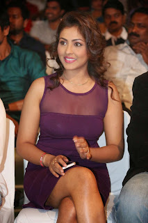 Actress Model Madhu Shalini  Picture Gallery in Short Dress at Ladies and Gentleman Audio Launch   11