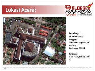 Lokasi pertemuan Blogger Nusantara 2012 di Makassar