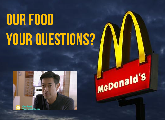 OUR FOOD YOUR QUESTIONS PICS IMAHARA MC D
