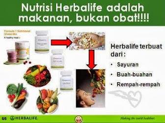 PRODUK HERBALIFE ADALAH NUTRISI DAN BUKAN OBAT