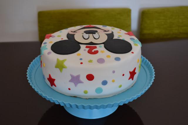 Tarta Mickey Mouse Fondant cumpleaños estrellas