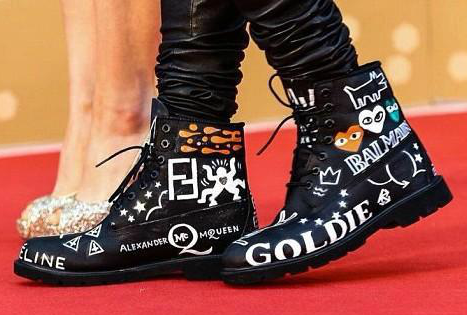 g-dragon boots customized 2013 gda red carpet