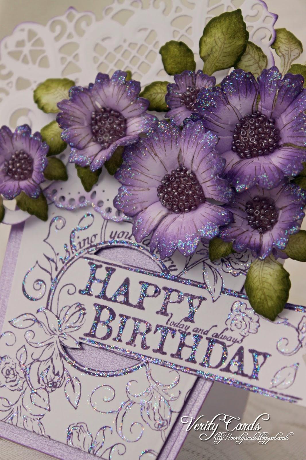 Verity Cards Birthday Flowers