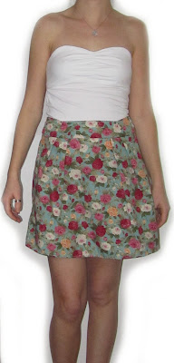 skirt, turquoise, flower, rose,pattern, fabric,pretty,summer,