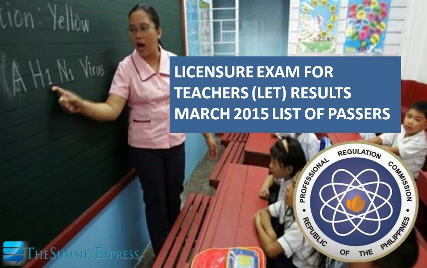 March 2015 LET results passers