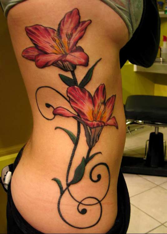 tattoos for girls on hip. girls. lettering tattoos