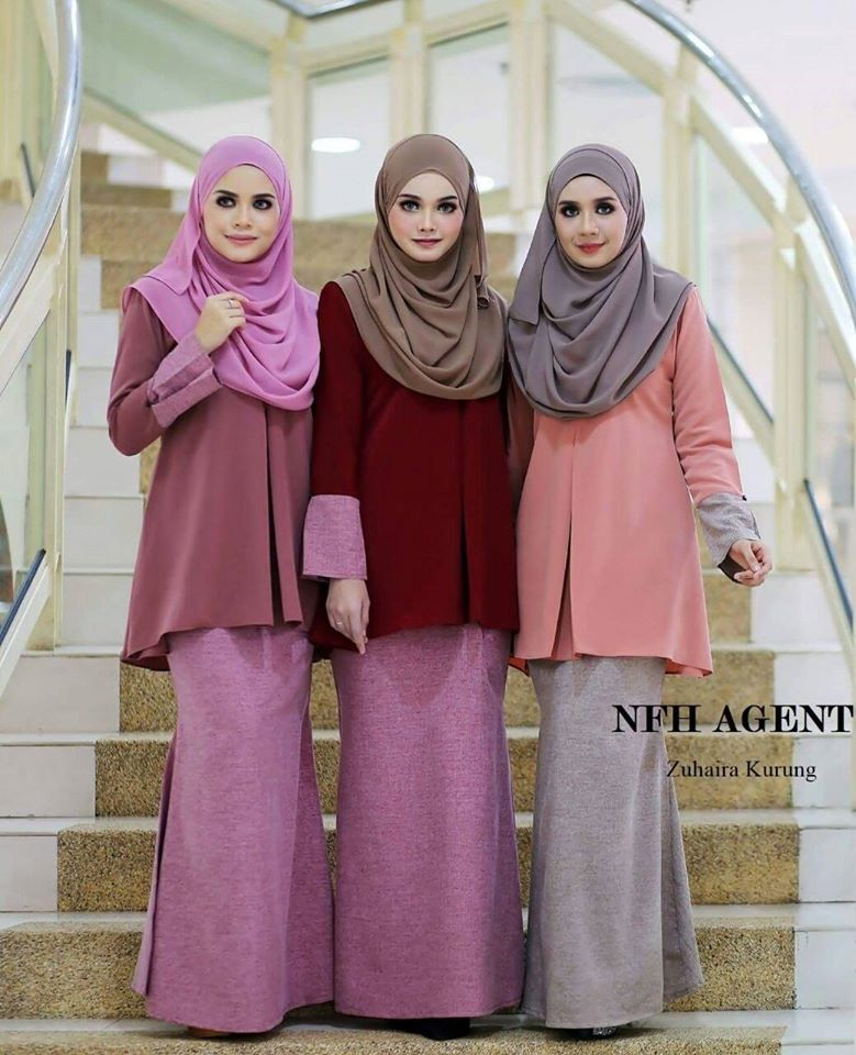 Restock atas permintaan ramai Zuhaira Kurung Tunic