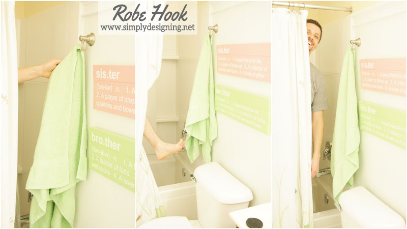 How To Install A Robe Hook | #diy #bathroom #bathroomremodel #remodel