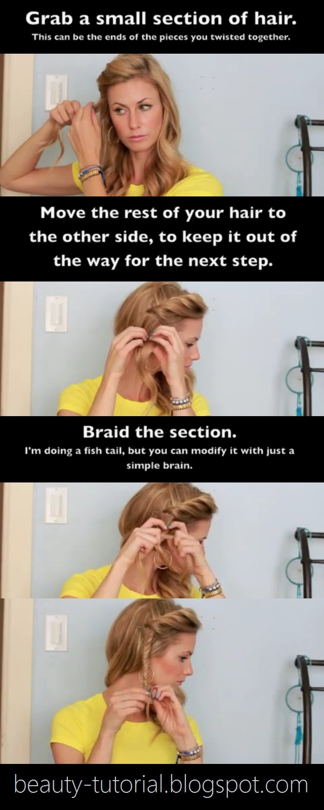 Side Twist Fishtail Braid Tutorial