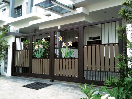 Modern homes main entrance gate designs home interior for Modern house gate