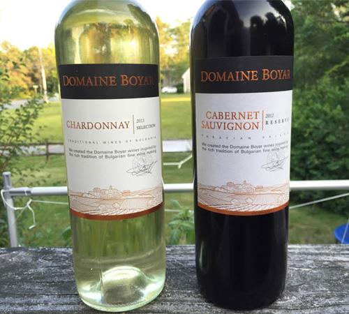 Domaine Boyar Chardonnay 2013 & Domaine Boyar Cabernet Sauvignon 2012