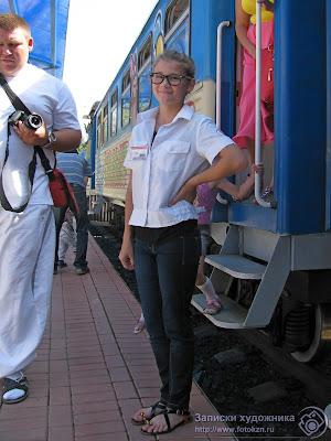 Казанская детская железная дорога, девочка проводница
