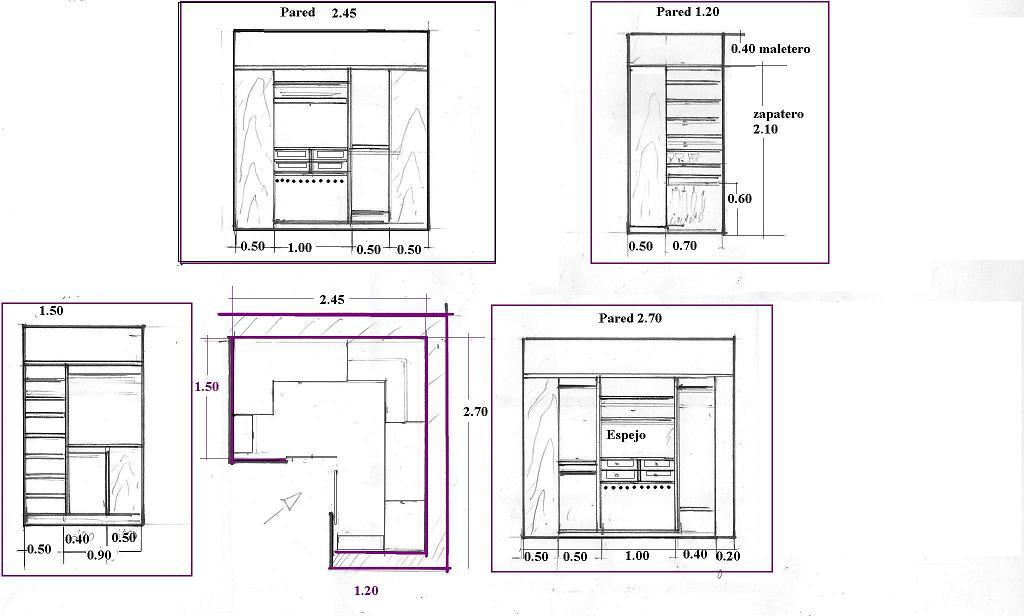Baño En Planta Medidas:Interiorismo y Decoracion Lola Torga: Medidas para un vestidor