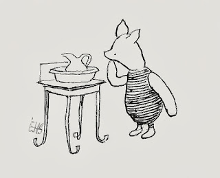 Piglet illustrated by E. H. Shepard