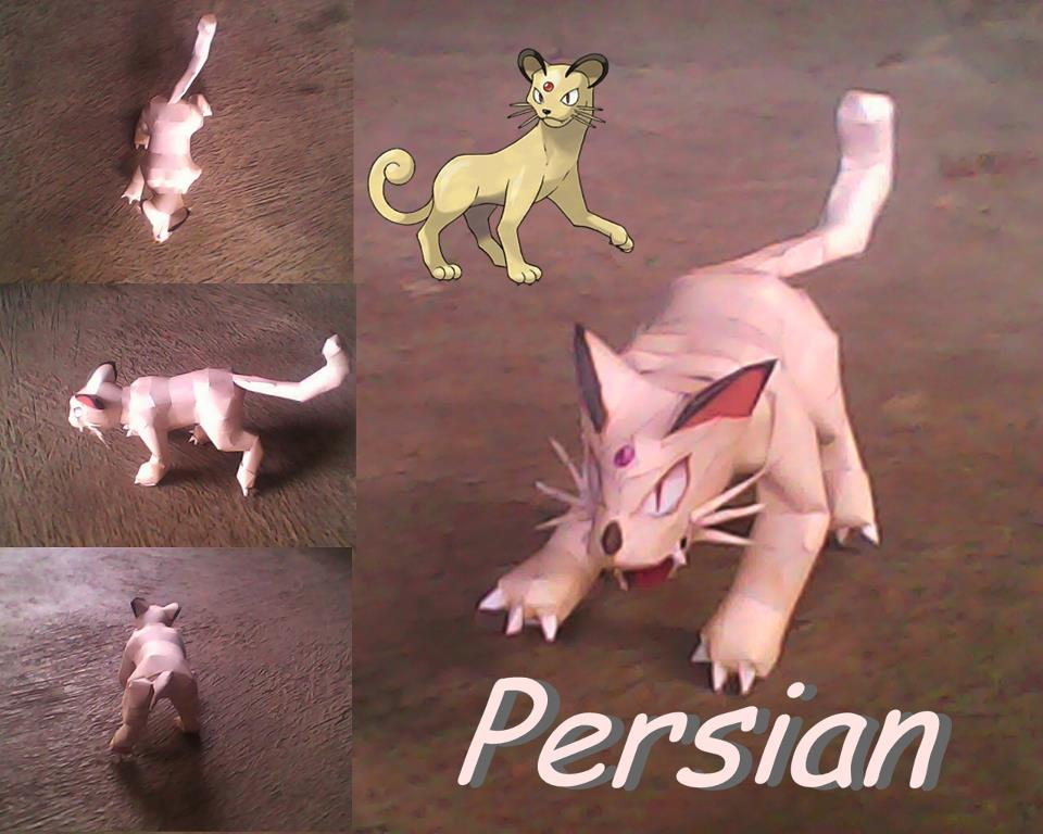 Pokemon Persian Papercraft