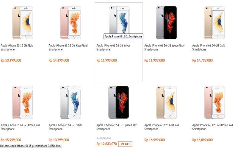 Harga Iphone 6s Untuk Pasar Indonesia Pojok Cyber