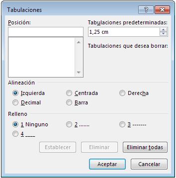 tabulaciones microsoft word 2013, word 2010, word 2007
