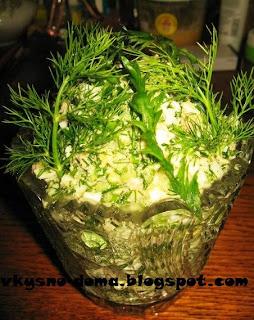 Салат из тресковой печени