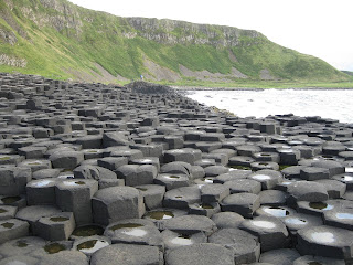 Giant's Causeway, hexagonal columns of basalt, visit it free!