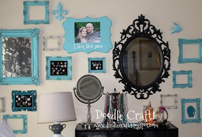 Black White And Blue Bedroom